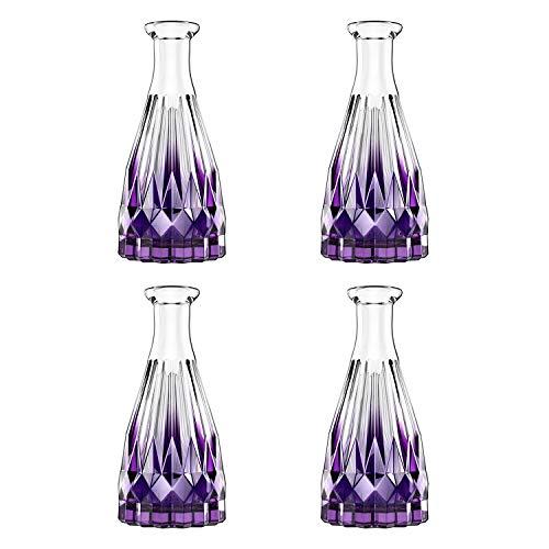Lewondr Glass Diffuser Bottles, 4PCS 5 7